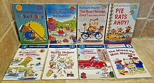 Lot 8 Richard Scarry Readers Levels 1, 2, & 3: The Early Bird, PIE RATS AHOY!...