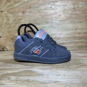 Heelys Split Skate Shoes, Youth Size 5, Gray / Orange