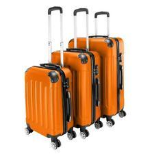 Orange 3 Pieces Travel Luggage Set Bag ABS Trolley Carry On Suitcase TSA Lock