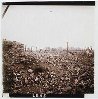 Guerre 14-18 Lente Francia Foto Stereo PL46Th3n4 Placca Vintage