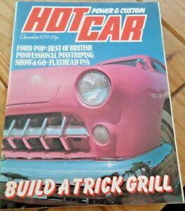 Hot Car Magazine December 1979 Classic Retro Rides Cars Trucks Collectable Item