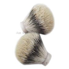 2 Pcs small Silvertip Badger Hair Shaving Beard Brush Knot Zize 20mm Loft 50mm