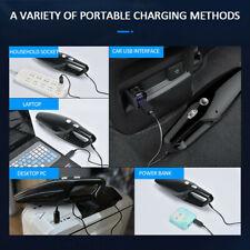 ABS USB Charging Car Mini Handheld 120W High Power Vacuum Cleaner Black Home