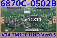 LG Original Logic Board T-Con Board  6870C-0502B MODEL: V14 TM120 UHD Ver0.5