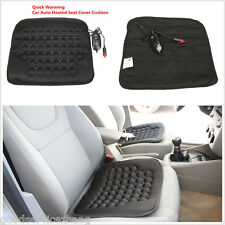 Heater Cushion Cover Warmer Pad Mat Car Heated Seat Cover Black 12V for Travel
