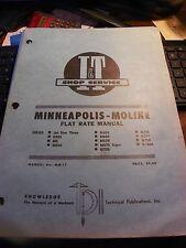 Vintage It Minneapolis Moline Farm Tractor Flat Rate Manual Mm 17