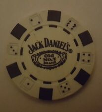 1 X  JACK DANIELS  POKER CHIP MARKER  WHITE FREE UK P&P