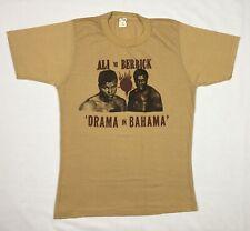 Vtg 80s Muhammad Ali Vs Trevor Berbick Drama In Bahamas T-Shirt Sz Large Boxing