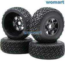 US Shipping 4pcs RC 1/8 Buggy Off Road Short Course Tires & Hex 17mm Wheels Rims