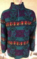 Vintage Blazer Firenze Navajo Tribal Aztec 1/4 Zip Fleece Style Jacket Large