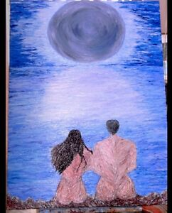 """""""MOONSTRUCK"""" Oil on canvas direct from professional artist KYLIE WHITTAKER"""