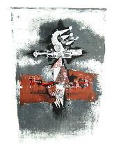 JOHNNY FRIEDLAENDER - SansTitre 1975 - Probedruck Plakatentwurf - Lithografie