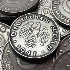 Rare WW2 Nazi Germany 3rd Reich 10 Reichspfennig Swastika Coin Buy 3 Get 1 Free