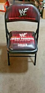 WWF WWE Wrestling 2000 Royal Rumble at Madison Square Garden NYC folding chair