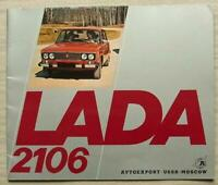 LADA 2106 Car Sales Brochure 1978 #032960