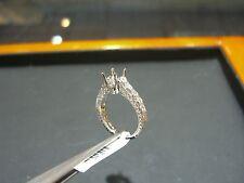 FINE 18 KARAT WHITE GOLD DIAMOND ENGAGEMENT RING SETTING - 0.80 CT DIAMOND NEW!!