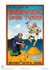 BERWICK UPON TWEED  RETRO VINTAGE RAILWAY TRAVEL POSTER  ADVERTISING