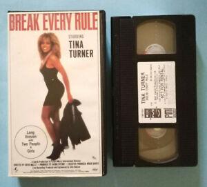 VHS Film Ita Musicale TINA TURNER Break Every Rule Robert Cray no dvd lp (V201)