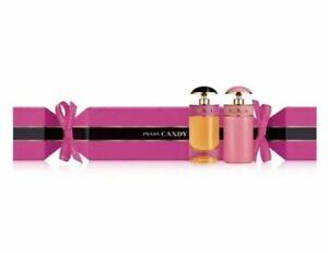 Prada Candy & Candy Gloss Cracker Perfume Set Mini Splash bottles .24 fl oz each