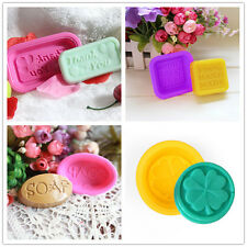 Silicone 4pcs 100% Handmade Soap Candle Mold Cake Chocolate Baking Mould Tools