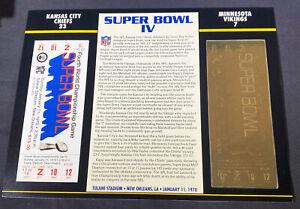 Willabee & Ward 22kt Gold Super Bowl Tickets Super Bowl IV