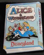 Disney Alice in Wonderland Storybook Alice Sitting with White Rabbit 3D Pin Rare