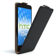 Tasche für HTC One X Flip Case Schutz Hülle Cover Etui Schwarz