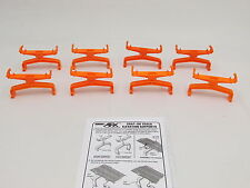 AURORA AFX SNAP ON TRACK ELEVATION SUPPORTS ~ 8 PC ~ ALL SHORTS ~ EXC COND!