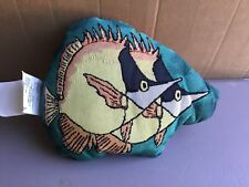 "USA NWOT Fish approx. 11"" x 14"" Tapestry Throw Pillow #555"