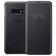 Official Samsung LED View Cover Flip Wallet Case for Galaxy S10e - Black