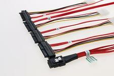 Free Shipping LSI / 3Ware SAS cable SFF-8087 to SFF-8482 power x4 SAS Red Cable