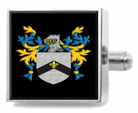 Carver England Family Crest Surname Coat Of Arms Tie Clip Engraved In Pouch