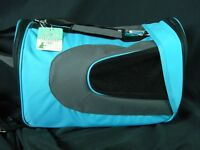 Pet Carrier Transport Small Dog Padded Blue Travel Bag Airline Approved