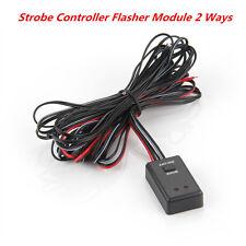 Universal Car Autos LED Flash Strobe Controller Box Flasher Module 2 Ways 12/24V