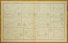 AUTHENTIC CIVIL WAR MAP ~ PLANS OF FORTS - BATTERIES - PETERSBURG, VA.