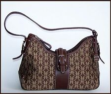 Fossil Signature Jacquard HOBO Bag with Key Charm Excellent Condition