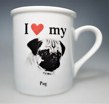 I Love Heart my Pug Dog Porcelain Coffee Cup Tea Mug