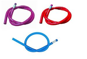 Flexible Bendy Lead Pencils x 24 Red BIue Purple Ideal Teacher Gift Party Filler