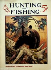 Vintage Hunting & Fishing Magazine August 1932 Great Cover Sporting