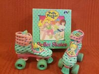 21574af78d Vintage Polly Pocket Boxed Uk Childrens Size 11j Roller Skates 1994 Bluebird