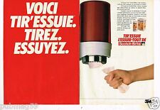 Publicité advertising 1983 (2 pages) Tir Essuie tout 3M Scotch Brite