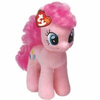 OFFICIAL TY BEANIE BABIES MY LITTLE PONY PINKIE PIE SOFT TOY NEW WITH TAG