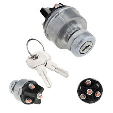 Universal 3-Position Ignition Starter Key Switch For Car Tractor Trailer Silver
