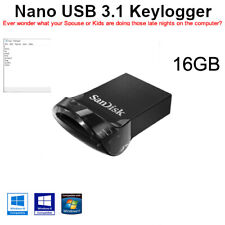 Keylogger Nano USB 3.1 acts as a NORMAL USB STORAGE DEVICE 16GB