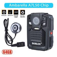 DVR 1290P IR HDMI 64GB Security Body Worn Camera Night Vision + External Lens