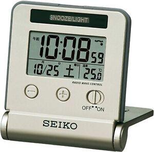 SEIKO SQ772G Clock Alarm Traveler Digital Calendar from Japan NEW Free shipping