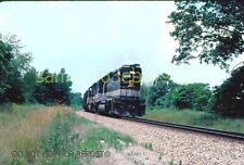 ORIGINAL SLIDE SOUTHERN RAILWAY EXTRA 4600 CLASS GP49 EAST BLUFORD L 1985 FLAGS!