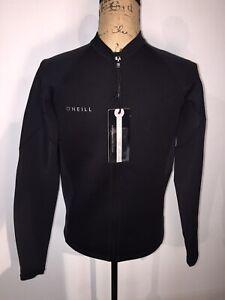 NEW O'Neill Mens Sz 5046-A00-XL Reactor 1.5 mm FZ Jacket Full Zip Wetsuit Black