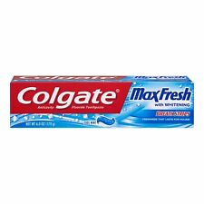 2 Colgate Max Fresh Travel Size Toothpaste with Breath Strips, Cool Mint - 1 oz.