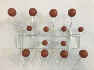 Modern Coffee Colour Wooden Ball Steel Frame Wall Mounted Hooks Coat Hanger